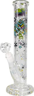 Ice-Bong Glas gerade 36cm, Ø 51mm, 18.8er Kopf transparent