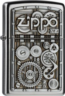 "Org.ZIPPO satin finish Plakette ""Gear Wheels""  2004497"