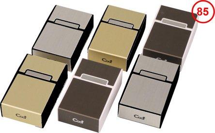 Cool Zigarettenbox Kunststoff Metalloptik sortiert 85mm