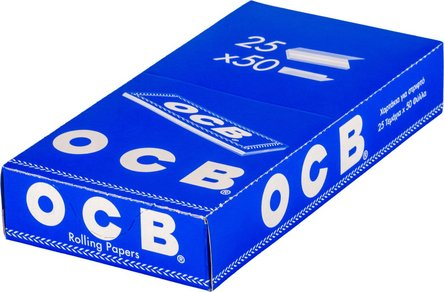 OCB BLAU 50 Zigtt.-Papier je25