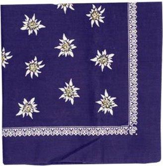 Tuch Edelweiß dunkelblau