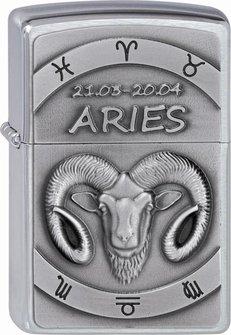 "Org.ZIPPO cr. geb. Plakette ""Aries"" 2002072"