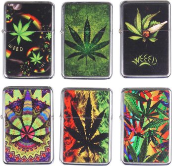 "COOL Benziner chrom poliert ""Cannabis"" sortierte Dekore"