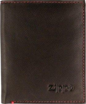 ZIPPO Herren-Geldbeutel Leder hoch Mocca  2005121
