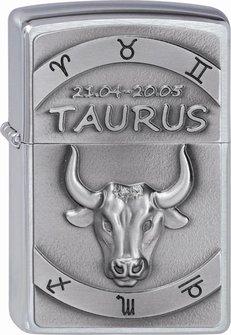 "Org.ZIPPO cr. geb. Plakette ""Taurus"" 2002073"