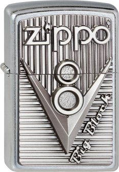 "Org.ZIPPO str. cr. Plakette  ""Zippo V8"" 2003248"