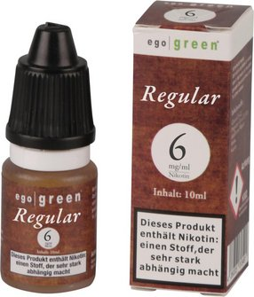 Liquid ego green Regular Tobacco 6mg Nikotin 10ml