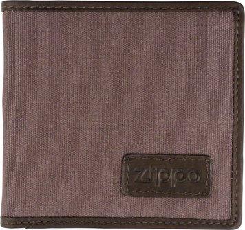 ZIPPO Herren-Geldbeutel quer Textil/innen Leder  2005120