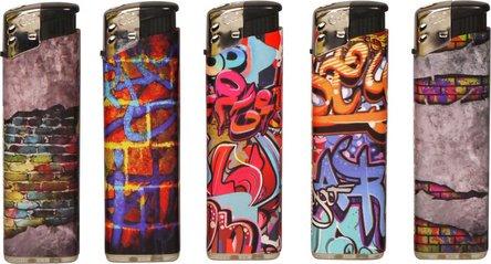"COOL Mehrweg-Piezo-Feuerzeug ""Graffiti"" sortiert"