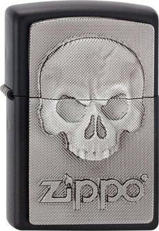 "Org.ZIPPO schwarz matt Plak. ""Phantom Zippo Skull"" 2003546"