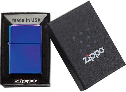 Org.ZIPPO Indigo high polished shiny 60004540