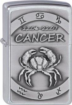 "Org.ZIPPO cr. geb. Plakette ""Cancer"" 2002075"
