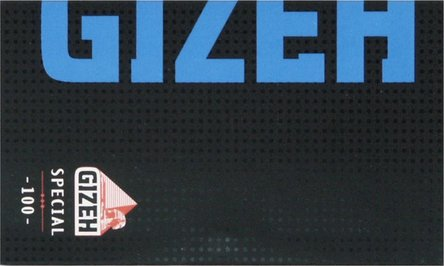 GIZEH BLACK Special (blau) 100  Zigtt.-Papier/Magnet je20