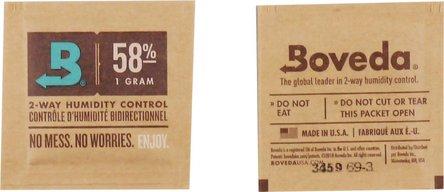"""Boveda Humidipak 2-way humidifier Mini """"58""""  4 x 4 cm"""