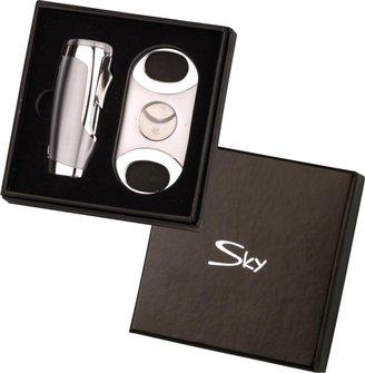 SKY 3-Flammen-Jet und Cigarrenabschneider in Chrom
