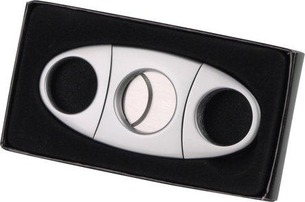Cigarren-Abschneider chrom matt  23mm Schnitt/KS-Box