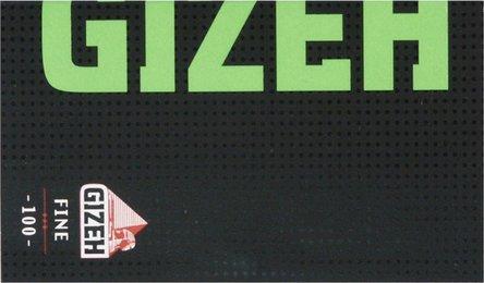 GIZEH BLACK Fine grün 100 Zigtt.-Papier/Magnet (je20Hf.)