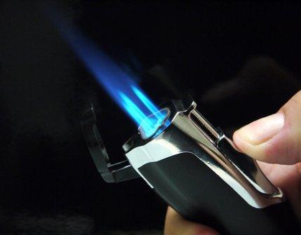 SKY 3-Flammen Jet-Fzg und Cigarrenabschneider schwarz