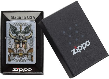 "Org.ZIPPO street chrom color ""Viking Odin"" 60004549"