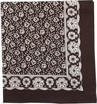 Tuch Paisley/Ornamente schwarz