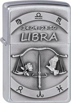 "Org.ZIPPO cr. geb. Plakette ""Libra"" 2002078"