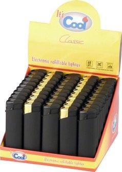 COOL Mehrweg-Feuerzeug Piezo schwarz Rubber sortiert
