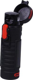 ATOMIC Outdoor X-Spark-Feuerzeug schwarz/rot mit USB-Kabel