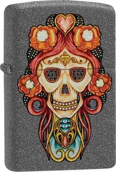 """Org.ZIPPO Iron Stone color """"Skull Pendant"""" 60004550"""