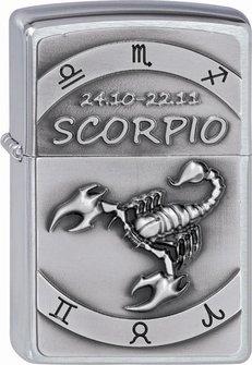 "Org.ZIPPO cr. geb. Plakette ""Scorpio"" 2002079"