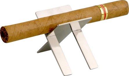 Cigarrenbank Metall chrom poliert groß