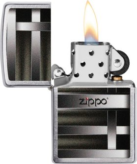 "Org.ZIPPO chrom gebürstet color ""Metal Bars"" 60004553"