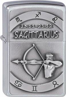 """Org.ZIPPO cr. geb. Plakette """"Sagittarius"""" 2002080"""