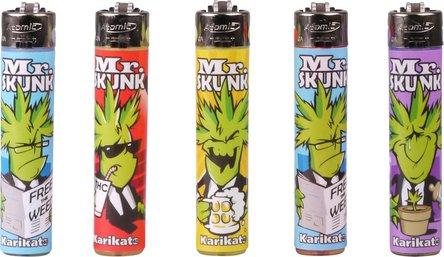 """ATOMIC Stein-Feuerzeug """"Mr. Skunk"""" sortiert"""