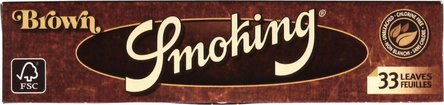 SMOKING KINGSIZE BROWN Zigtt.-Papier je 50