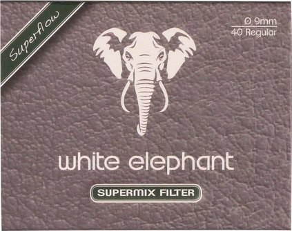 "White Elephant ""Supermix"" 9mm Box Inhalt 40 Filter"