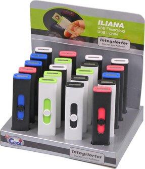 """COOL Spiral-Anzünder """"Iliana"""" sort., USB-Stecker integriert"""