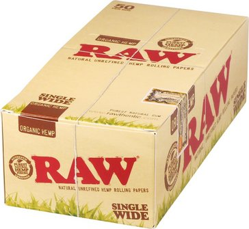 RAW Organic Single Wide Zigarettenpapier je 50