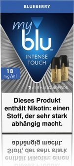 myblu Intense Podpack 1,5ml Blueberry 18mg/ml Nik. DE 2er Pa