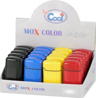 """COOL Jet-Feuerzeug """"Mox Color"""" farbig sortiert"""