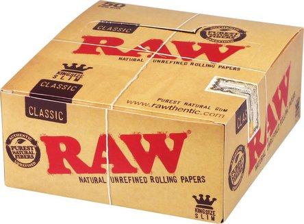 RAW Classic Kingsize Slim Zigarettenpapier je 50