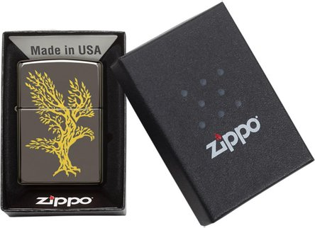 "Org.ZIPPO Black Ice color ""Eagle Tree"" 60004558"