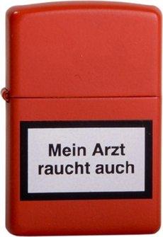 """Org.ZIPPO rot """"Mein Arzt raucht..""""1290127"""