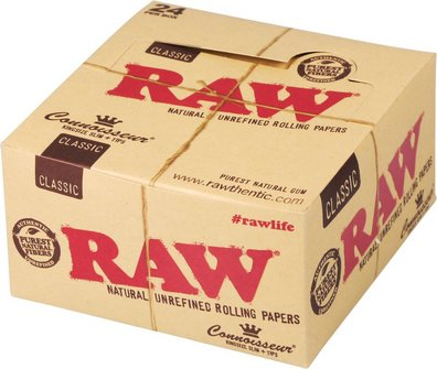 RAW Connoisseur Kingsize Slim Zigtt-Papier + Tips je 24
