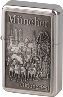 """COOL Benziner Plak.""""München""""/chr.pol."""