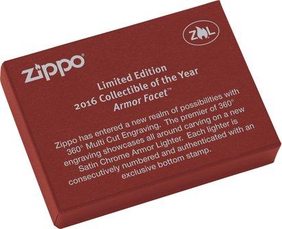 """Org.ZIPPO sat.fin. Armor Case """"Collectible 2016"""" 60001742"""