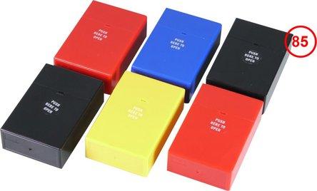 "Cool Zigarettenbox ""Pop up""  Kunststoff farb. so. 85mm"