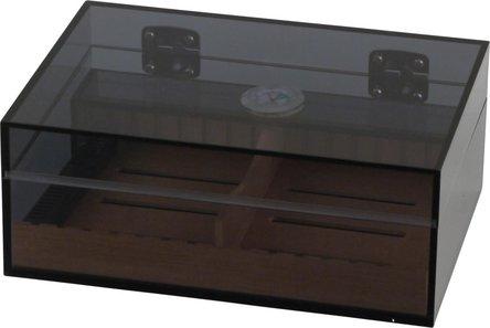 Humidor Acryl dunkel getönt für ca. 25 Cigarren