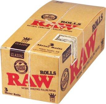 RAW Classic Kingsize Rolls 3 m x 37mm je 12 Rollen