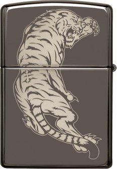 "Org.ZIPPO Black Ice gelastert ""Dragon/Sword/Tiger"" 60004565"