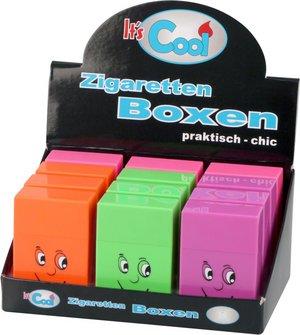 """Cool Zigarettenbox Pop up """"Gesichter"""" farbig sortiert 85mm"""